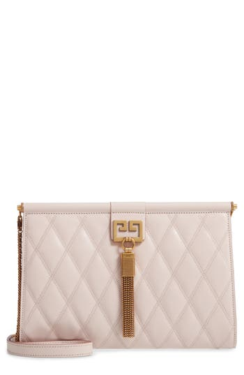Givenchy Gem Quilted Leather Frame Shoulder Bag
