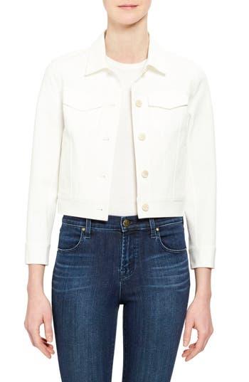 Theory Crop Stretch Denim Jacket