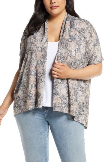 Bobeau Helena Short Sleeve Cardigan (Plus Size)