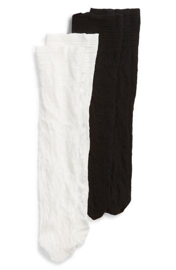 Nordstrom 2-Pack Floral Net Anklet Socks