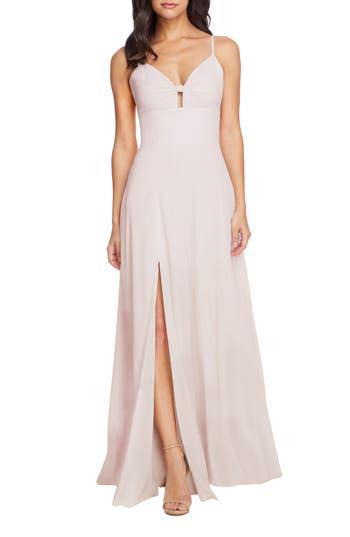 Dress the Population Cambria Tie Bodice Evening Dress