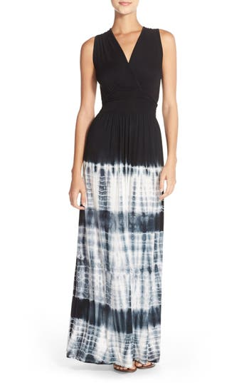 Women's Fraiche By J Tie Dye Ombré Jersey Maxi Dress