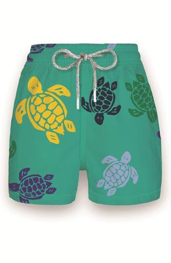 Boys Vilebrequin Multicolor Turtles Print Swim Trunks