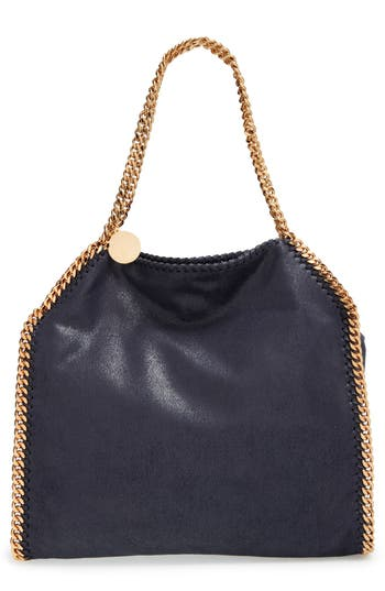 Stella Mccartney 'Small Falabella - Shaggy Deer' Faux Leather Tote - Blue