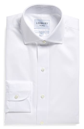 Men's Ledbury Classic Fit Fine Twill Dress Shirt