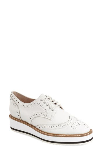 Shellys London Emma Platform Oxford, White