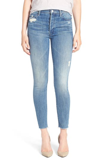 Women's Mother The Stunner Frayed Ankle Skinny Jeans