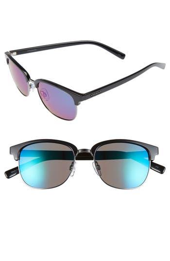 Women's Polaroid Eyewear 55Mm Polarized Sunglasses - Dark Ruthenum/ Green Polarized