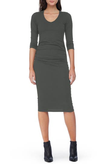 Michael Stars Ruched Midi Dress