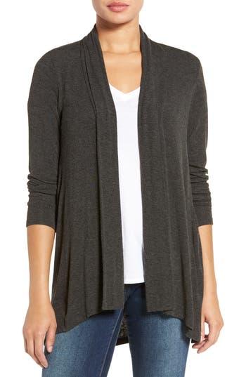 Women's Bobeau High/low Jersey Cardigan, Size X-Large - Grey