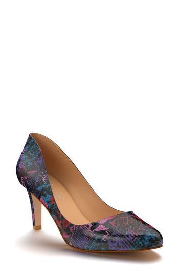 Shoes Of Prey Round Toe Pump - Purple
