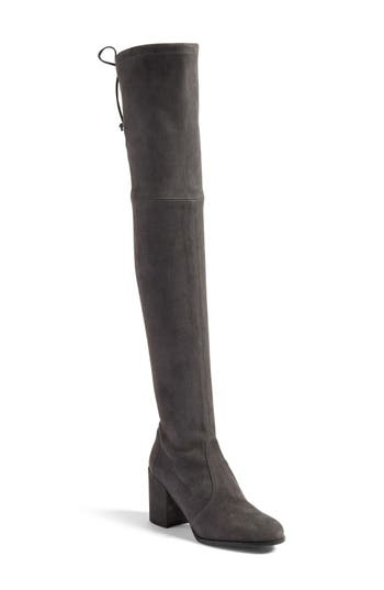 Stuart Weitzman Tieland Over The Knee Boot- Grey