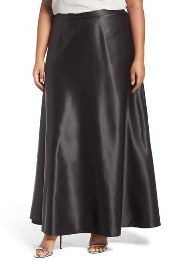Plus Size Alex Evenings Satin Long Circle Skirt