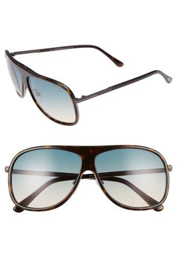 Men's Tom Ford 'Chris' 62Mm Sunglasses - Shiny Havana/ Turquoise