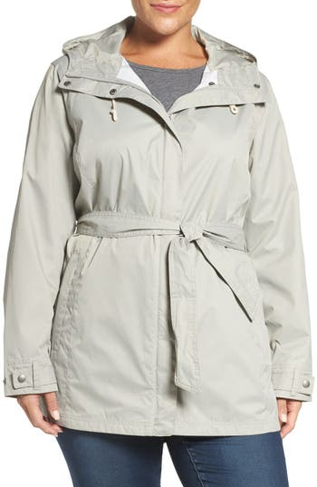 Plus Size Women's Columbia 'Pardon My Trench' Water Resistant Trench Coat, Size 1X - Grey