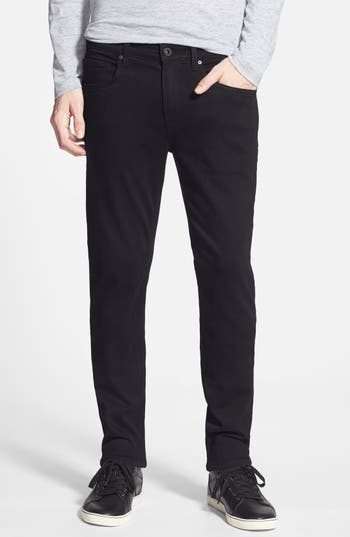 Big & Tall Paige Transcend - Lennox Xl Slim Fit Jeans, Black