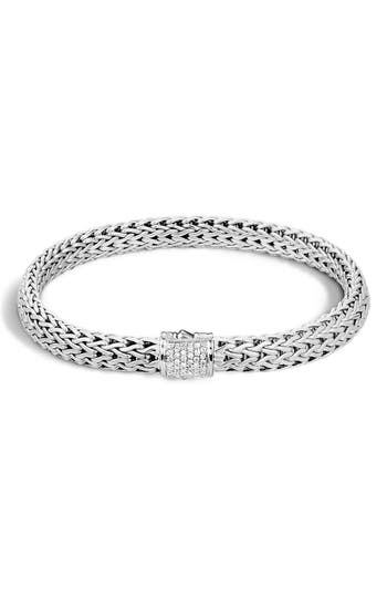 John Hardy 'Classic Chain' Diamond Small Bracelet