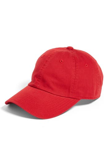 AMERICAN NEEDLE | Women's American Needle Washed Cotton Baseball Cap - Red | Goxip