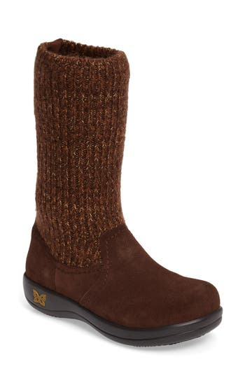 Alegria Juneau Leather Boot, Brown