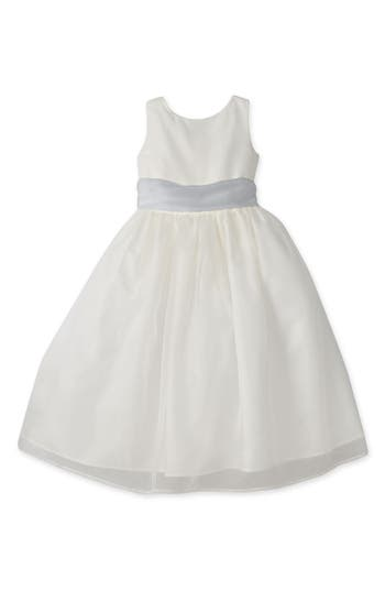 Girls Us Angels Sleeveless Organza Dress Size 10  Ivory