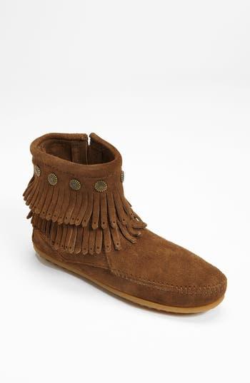 Minnetonka Double Fringe Boot, Brown