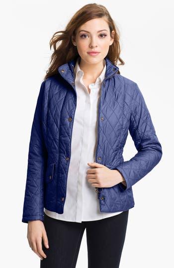 Women's Barbour Cavalry Flyweight Quilt Jacket, Size 10 US / 14 UK - Blue