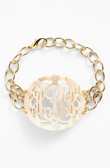 Women's Moon And Lola 'Annabel' Large Oval Personalized Monogram Bracelet (Nordstrom Exclusive)