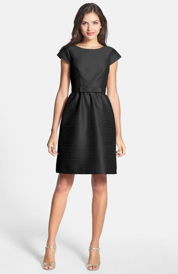 Alfred Sung Woven Fit & Flare Dress, Black