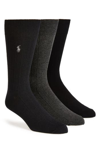 Men's Polo Ralph Lauren 3-Pack Crew Socks