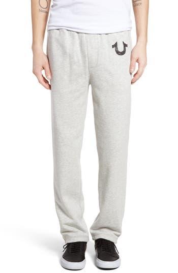 True Religion Brand Jeans Open Leg Sweatpants, Grey