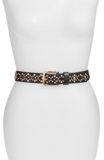 Women's Rebecca Minkoff 'Mara' Studded Calfskin Leather Belt