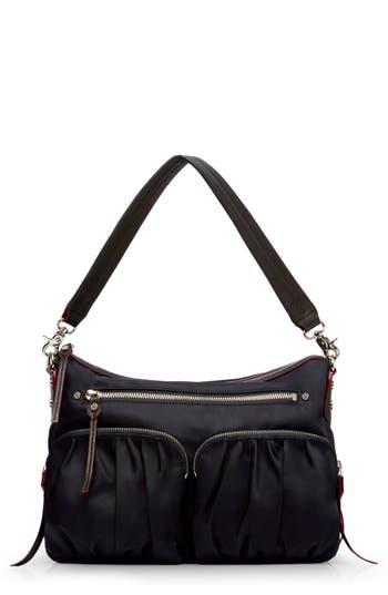 Mz Wallace 'Hayley' Bedford Nylon Handbag - Black