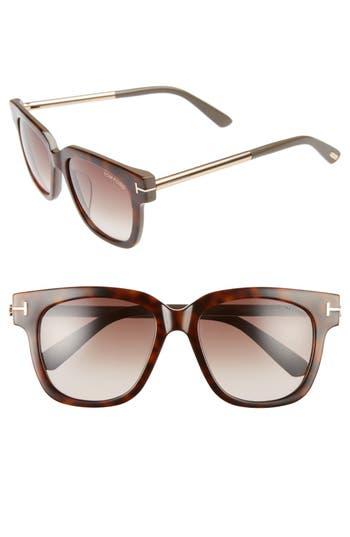 Tom Ford Tracy 5m Retro Sunglasses - Havana/ Gradient Roviex