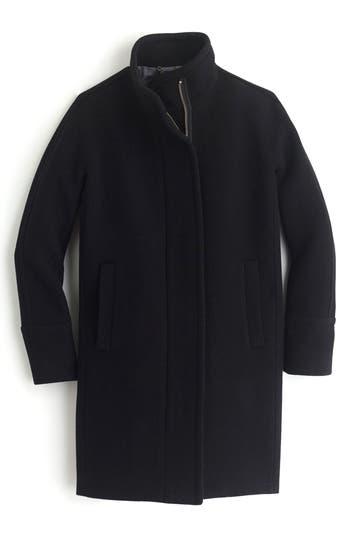 Women's J.crew Stadium Cloth Cocoon Coat, Size 00 - Black
