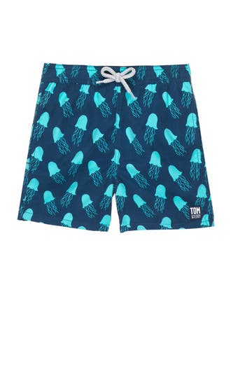 Boys Tom  Teddy Jellyfish Swim Trunks Size 1112Y  Blue