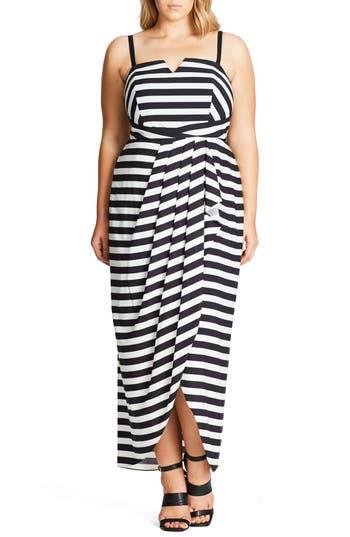 Plus Size City Chic Fair Lady Convertible Maxi Dress