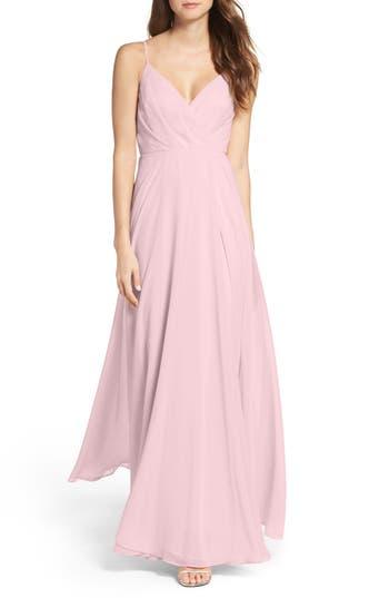 Women's Lulus Surplice Chiffon Gown