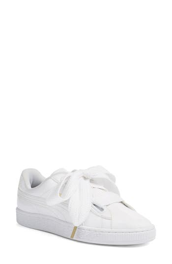 Puma Basket Heart Sneaker, White