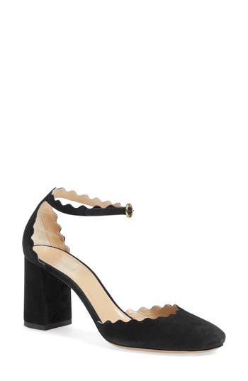 Chloe Scalloped Ankle Strap D