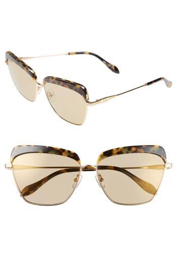 Sonix Highland 61Mm Square Sunglasses - Brown Tort/ Amber Mirror