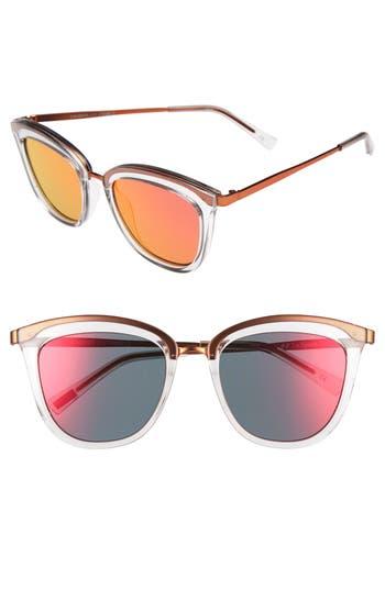 Le Specs Caliente 5m Cat Eye Sunglasses - Mist/ Firecracker