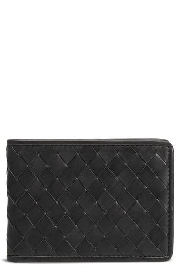 Trask Woven Leather Wallet -