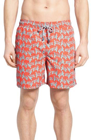 Men's Tom & Teddy Turtle Print Swim Trunks