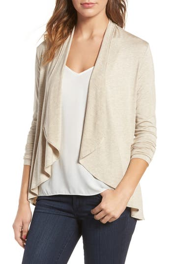 Amour Vert Michaela Stretch Modal Cardigan, Beige