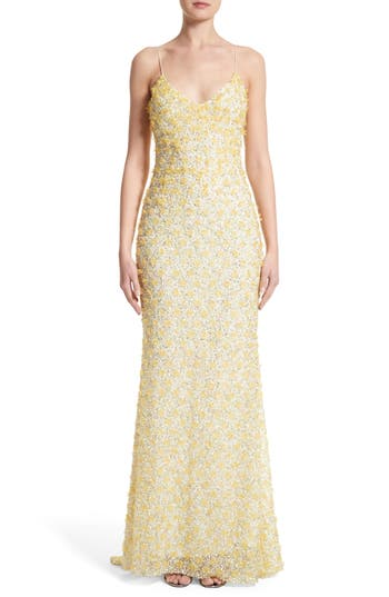 Badgley Mischka Couture Embellished Gown
