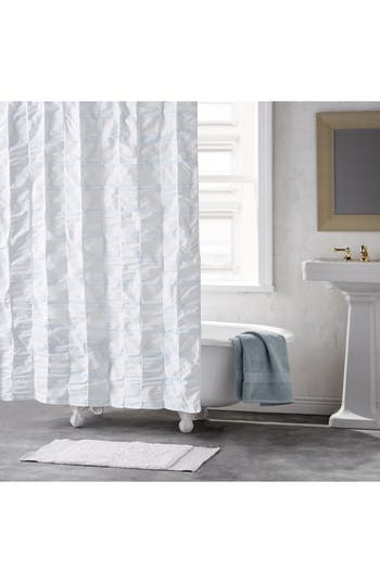 Dkny Check Please Shower Curtain, Size One Size - Blue
