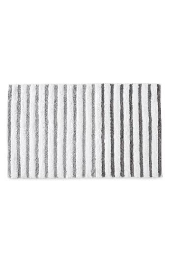 Dkny Parson Stripe Bath Rug, Size One Size - Metallic