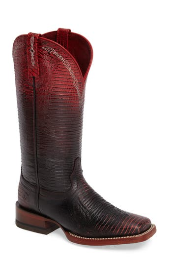Ariat Ombre Square Toe Western Boot- Red