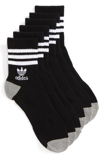adidas Originals 3-Pack Quarter Crew Socks