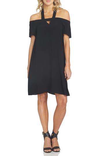 1.state Off The Shoulder Halter Dress